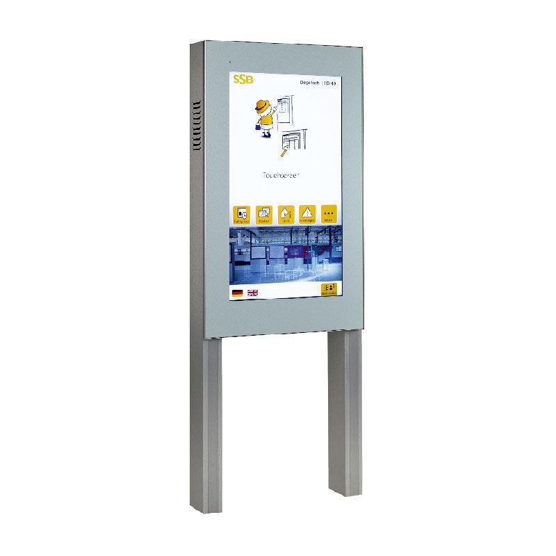 Freistehende Fahrgastinfo-Monitor Hochformat