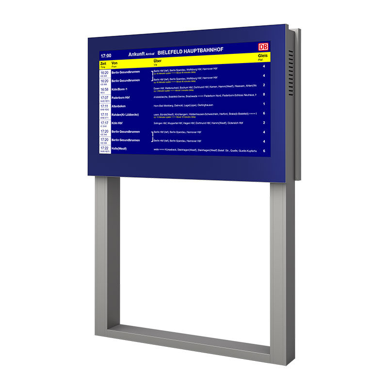 Freistehndes Bildschirminformationssystem 65 Zoll